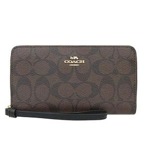 Coach Large Phone Wallet In Signature